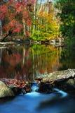 Nedgång Waterscape Royaltyfri Bild