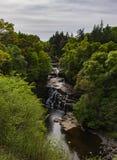 Nedgångar av Clyde: Corra Linn Waterfall Arkivfoton