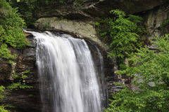 Vattenfall i North Carolina royaltyfria bilder