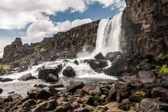 Nedgångar i Island Royaltyfri Fotografi