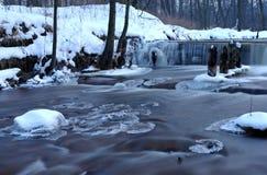 Nedgångar i vintern. Fotografering för Bildbyråer