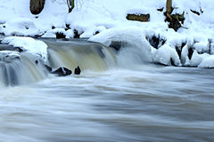 Nedgångar i vintern. Arkivbilder