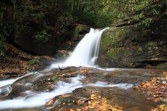 Nedgångar på Dodd liten vik längs Raven Cliff Falls Trail i Georgia Royaltyfria Bilder