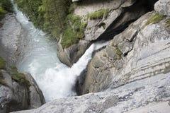 Nedgångarna för Trà ¼mmelbach Schweiz royaltyfri fotografi