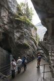 Nedgångarna för Trà ¼mmelbach Schweiz Arkivfoto