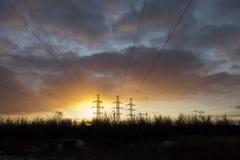 nedgångelektricitetsfine Royaltyfria Bilder