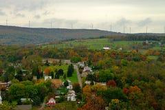 Nedgången färgar landskap i lantliga Amerika Royaltyfri Bild