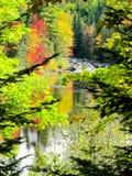 Nedgångfärger över vatten Royaltyfri Fotografi