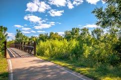 Nedgångfärger i Cedar Falls, Iowa Arkivfoton