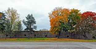 Nedgångfärger i Loviisa, Finland Royaltyfri Bild