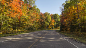 Nedgångfärger i Michigan Royaltyfria Bilder