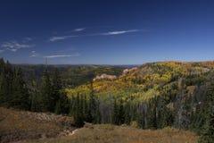 Nedgångfärger i sydliga Utah royaltyfria foton