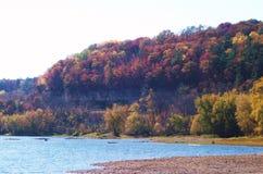 Nedgångfärger på Sten Croix River Royaltyfri Foto