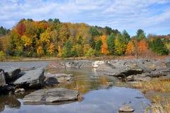 Nedgånglövverk i monteringen Mansfield, Vermont Royaltyfria Bilder