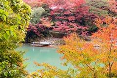 Nedgångsäsong Arashiyama Kyoto Japan Royaltyfri Fotografi