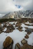 Nedgångsäsong av kurobe som är alpin i tateyama Japan Arkivbild