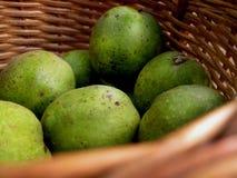 Nedgångskörd av frukter i pottle arkivfoto