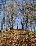 Nedgångväg med korset Royaltyfria Bilder