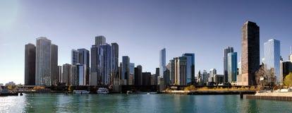 Nedgång i i stadens centrum Chicago, Illinois Arkivbild
