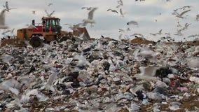 Nedgrävning av sopor lager videofilmer