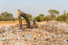 Nedgrävning av soporplats, giftlig avfalls Royaltyfri Bild