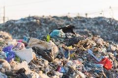 Nedgrävning av soporplats, giftlig avfalls Royaltyfri Foto