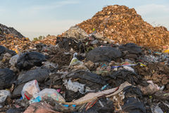 Nedgrävning av soporplats, nedgrävning av soporavfalls i Thailand Fotografering för Bildbyråer