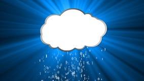 Nedladda det informativa molnet Öppna träaskwitnlocket på paletten stock illustrationer