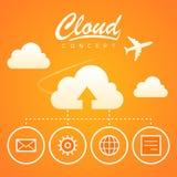 Nedladdning för optimization för molnbegreppsarbete vektor illustrationer