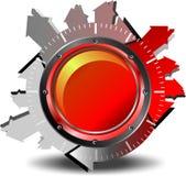 Nedladdning för röd knapp Arkivbilder