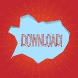Nedladdning för textteckenvisning Begreppsmässigt foto som sparar tillbehör för åtskillig mapp till lokalt läge för harddiskdrev stock illustrationer