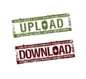 nedladdningen stämplar upload Arkivfoto