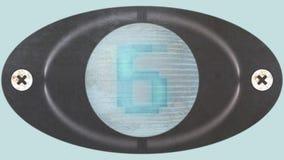 Nedräkninganimering från 10 till 0 Runda LEDD skärm arkivfilmer