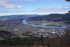 Nedre Eiker township, Norway. View of Nedre and Øvre Eiker townships in Buskerud county, Norway Stock Images