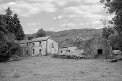 Nedskärning övergett irländskt lantbrukarhem Arkivfoto