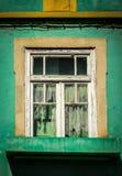 Nedskärninghus med den färgglade fasaden Fotografering för Bildbyråer