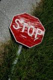 nedskärningteckenstopp Fotografering för Bildbyråer