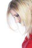 Nedslagen ung kvinna royaltyfria bilder