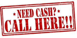 Free Need Cash Call Here Stock Photos - 109744133