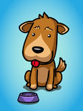 Need for food. A dog waiting for food Stock Illustration