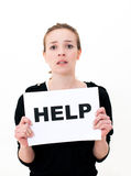 NEED HELP? Stock Image