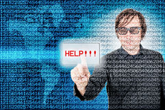 Need help. Men desperately need help to get out of financial trouble Royalty Free Stock Images