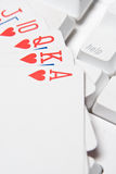 Need help?. Help with a royal flush stock image