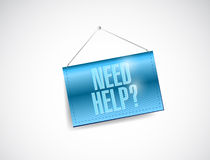 Need help hanging banner illustration design Royalty Free Stock Photo