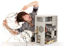 Need help for my computer! stock image