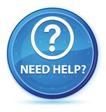 Need help (question icon) midnight blue prime round button. Need help (question icon) isolated on midnight blue prime round button abstract illustration stock illustration