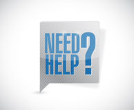 Need help question message bubble illustration Royalty Free Stock Photos