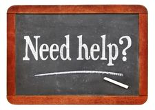 Need help? A question on blackboard royalty free stock photography
