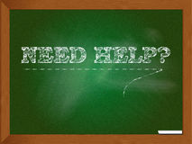 Need help sign. Abstract need help sign written on a blackboard or chalkboard Royalty Free Stock Image