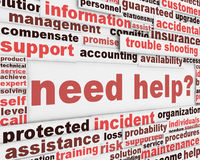 Need help slogan poster design. Customer support message concept Royalty Free Stock Photography